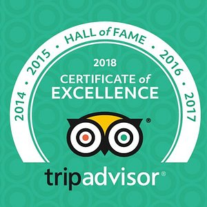 The Original Monterey Walking Tours TripAdvisor Certificate of Excellence hall of Fame