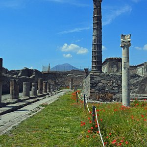 elevated structure is temple of jupiter I believe