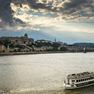 Budapest river side with the Royal Palace