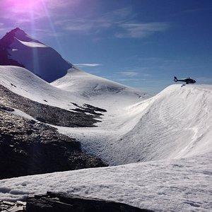 Glacier landing on Jura Glacier