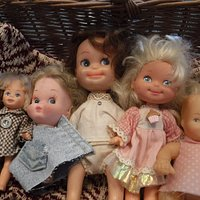This basket of dolls was a bargain for $8.00.