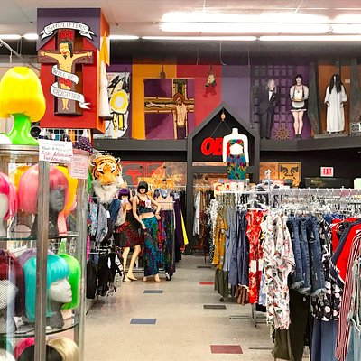 Clothing section of store