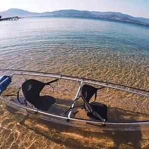 Canoes kayaks à vision sous marine entièrement transparents
