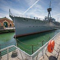 Explore HMS Caroline, a unique survivor.