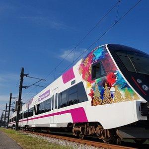 The new KLIA Ekspres train with Songket livery