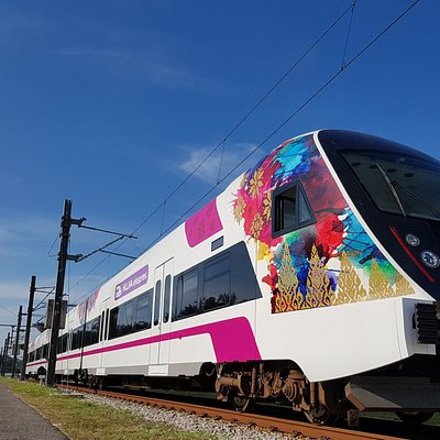 The new KLIA Ekspres train with Songket livery