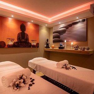 Sala relax con cromoterapia per Massaggi di coppia