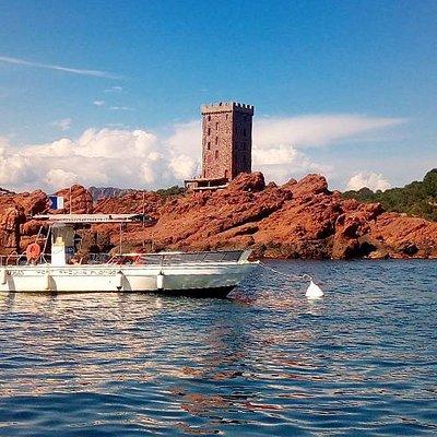 Notre bateau - site du Dramont (île d'or)