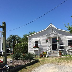 Buxton Village Books is housed in a completely restored 1860's island cottage.