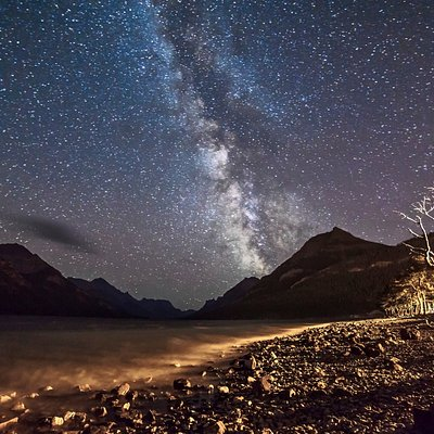 The Milky Way Over Waterton Lake