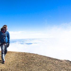 Happy Challenger @Volcan de Acatenango, Guatemala.