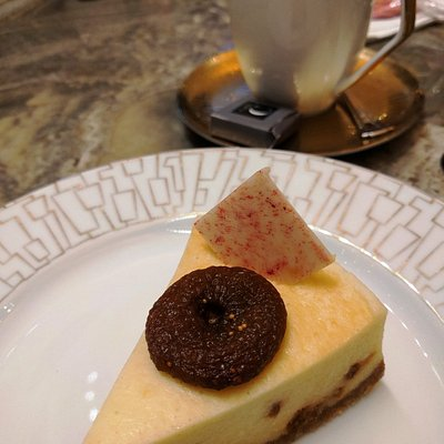 A fabulous fig cheesecake, and coffee