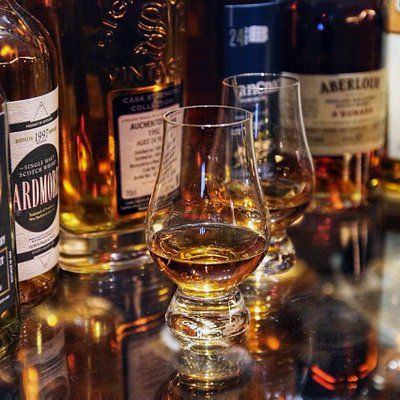 Vast selection of whiskies