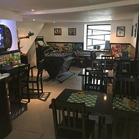 play some games while you chill and eat, board games & classic arcade games available free of ch