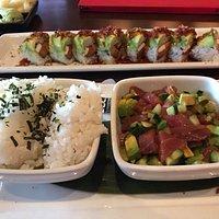 poke bowl and sushi, yum!