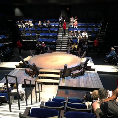 """Set and seating for the production of """"The Royale"""""""