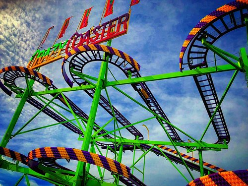 The brand new wild mouse ride - The Crazy Coaster!