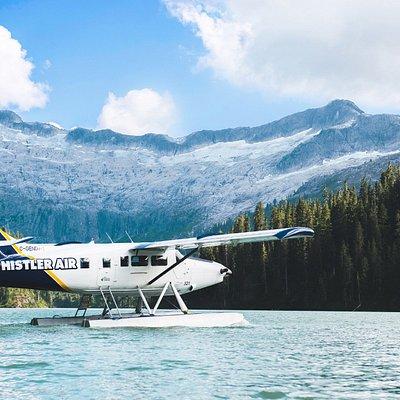 Seaplane on a remote alpine lake
