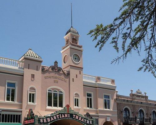 Beautiful clock tower is Plaza landmark