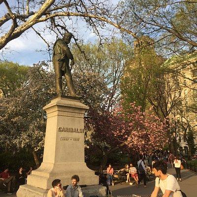 Giuseppe Garibaldi Statue at Washington Square Park