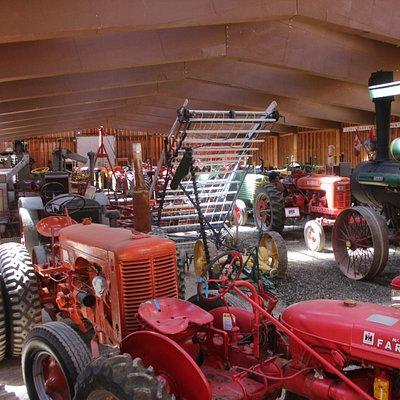 Antique farm equipment at Heritage Acres.