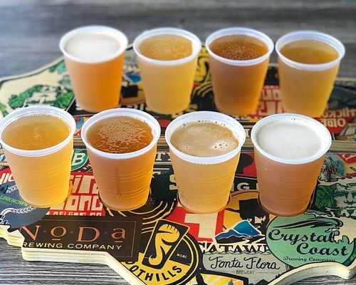 Our beer flights allow you to try up to 4 different styles, served on custom-made NC flight boar