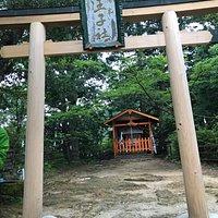 Torii and shrine