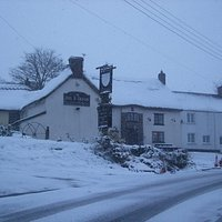 A very rare snow day at the Bull and Dragon