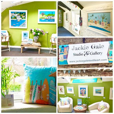 Bright and joyful art gallery filled with a vibrant collection of artwork and gifts.