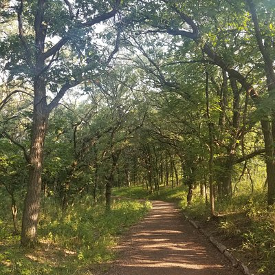 One of the trails at Good Earth State Park