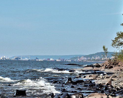 Looking back at Duluth.