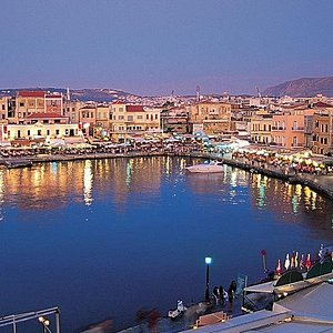 Old Harbour Chania from above