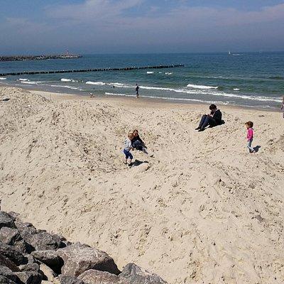 small hills form sand