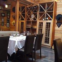 Seating Area & Wine Display