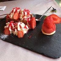 Excellent feuilleté aux fraises, un régal!!!