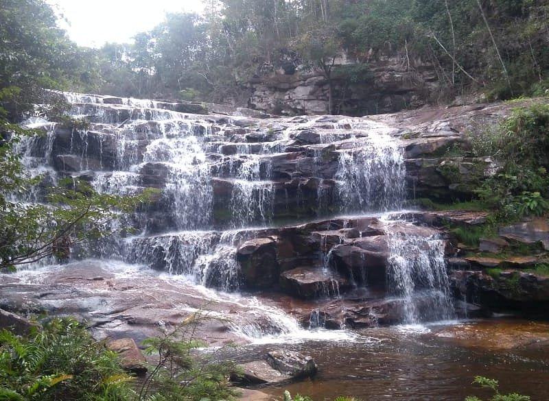 Uma das cachoeiras que visitamos