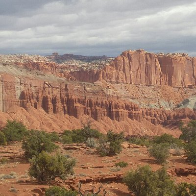 Red rocks near Capitol Reef