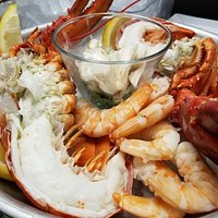 Seafood Tower, Shrimp, Clams, Oyster, Mussels, 1lb Lobster and Jumbo Lump Crab