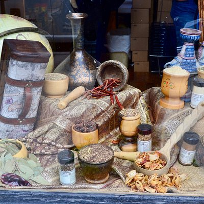 Spices in the window
