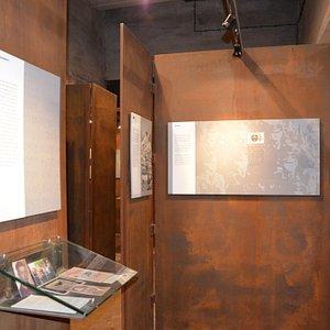 Ausstellungsbereich der Gedenkstätte KZ Drütte