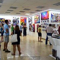 Evening atmosphere in Jaman art center.