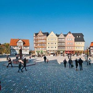 Der Marktplatz im Freilichtmueum Hessenpark- The market place at Hessenpark
