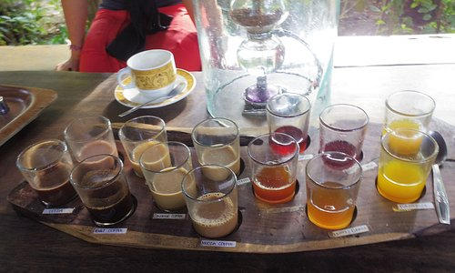 Tasting selection at Alam Sari Agrotourism