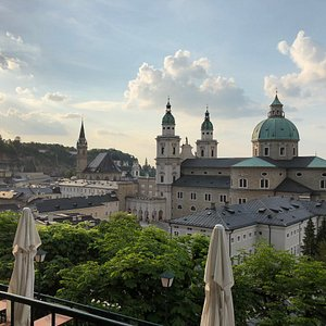 View of Salzburg from the terrace.