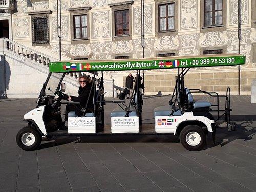 Golf car eco-friendly city tour