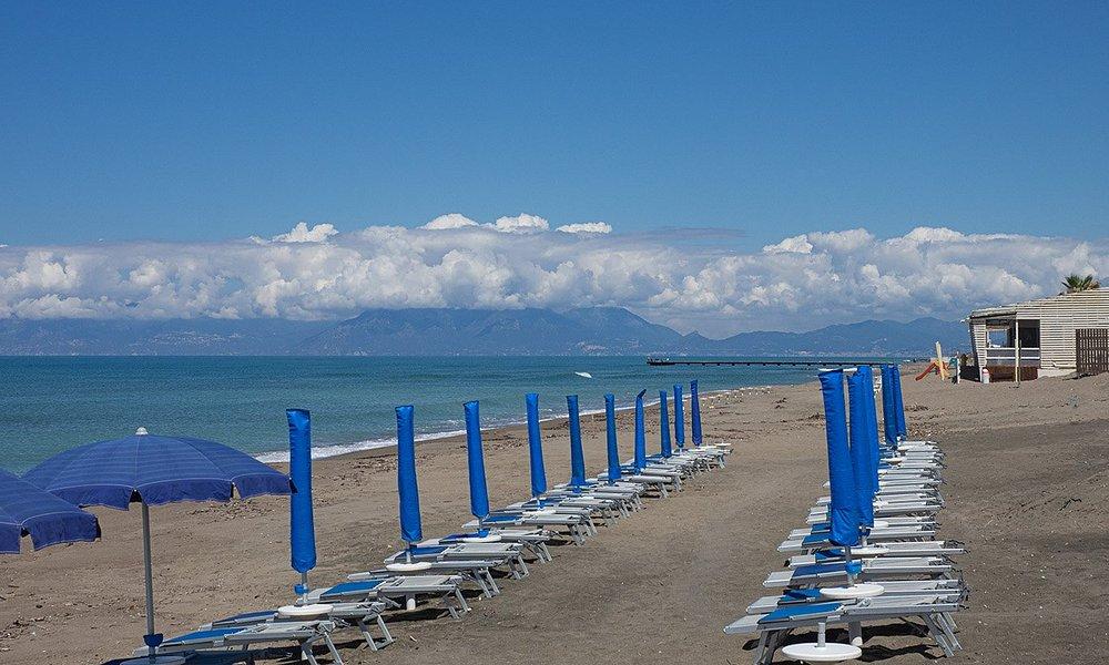 Blick in Richtung Golf von Salerno