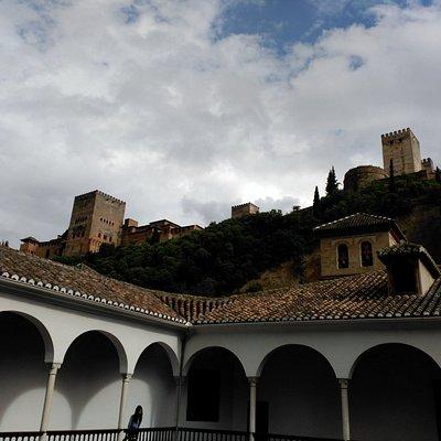 Vista de la Alhambra. Museo arqueológico de Granada.