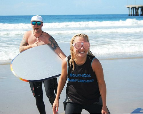 Fun activity day in Venice Beach with SouthCal Surf Lessons
