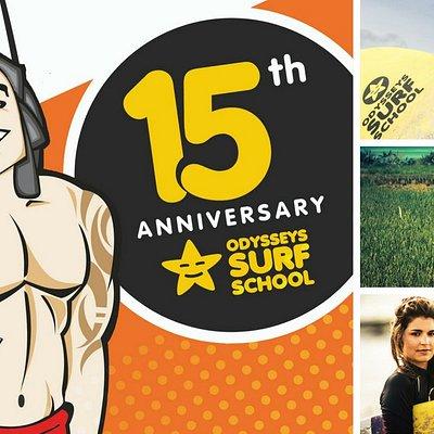 15th Anniversary Odysseys Surf School