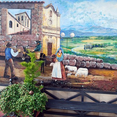 Uno dei murales a Scontrone